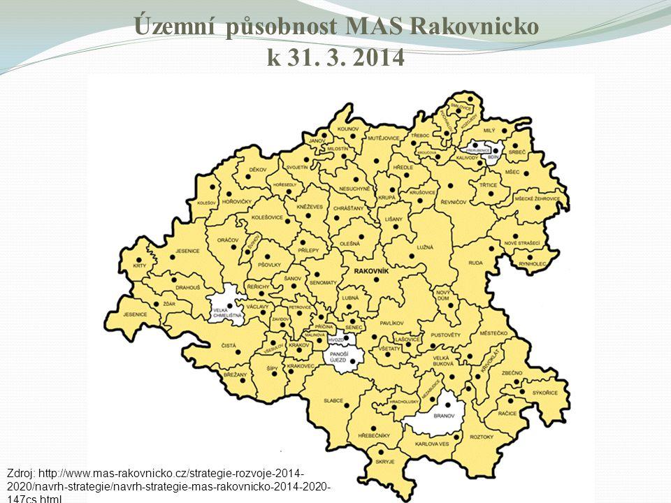 Územní působnost MAS Rakovnicko k 31. 3. 2014 Zdroj: http://www.mas-rakovnicko.cz/strategie-rozvoje-2014- 2020/navrh-strategie/navrh-strategie-mas-rak