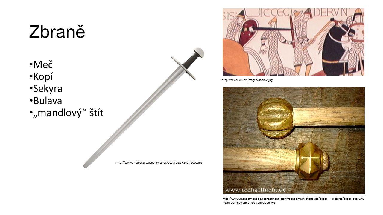 "Zbraně Meč Kopí Sekyra Bulava ""mandlový"" štít http://www.medieval-weaponry.co.uk/acatalog/SH2427-1000.jpg http://www.reenactment.de/reenactment_start/"
