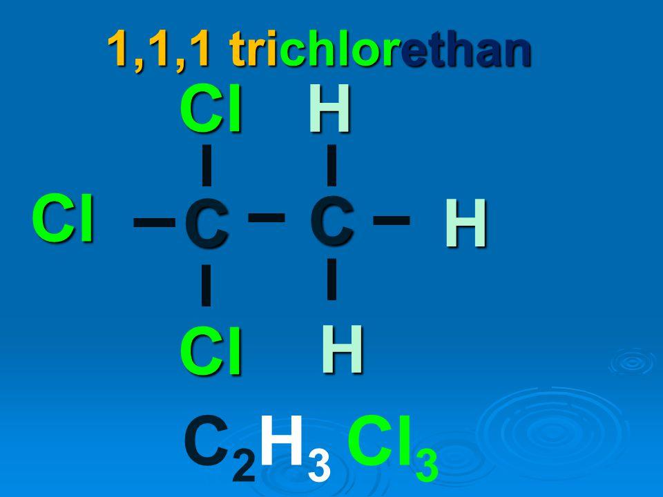 - dnes se užívá místo něj např. - dnes se užívá místo něj např. 1,1,1 trichlorethan pokus se napsat vzorec sám Obrázek č.14,15