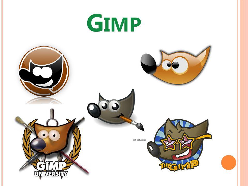 G IMP Formáty vhodné pro web: GIF JPEG PNG Formáty vhodné pro fotografie: TIFF (neztrácí kvalitu, nekomprimovaný) JPEG XCF, PSD (fotomontáže složené z několika vrstev, určené pro další úpravu)