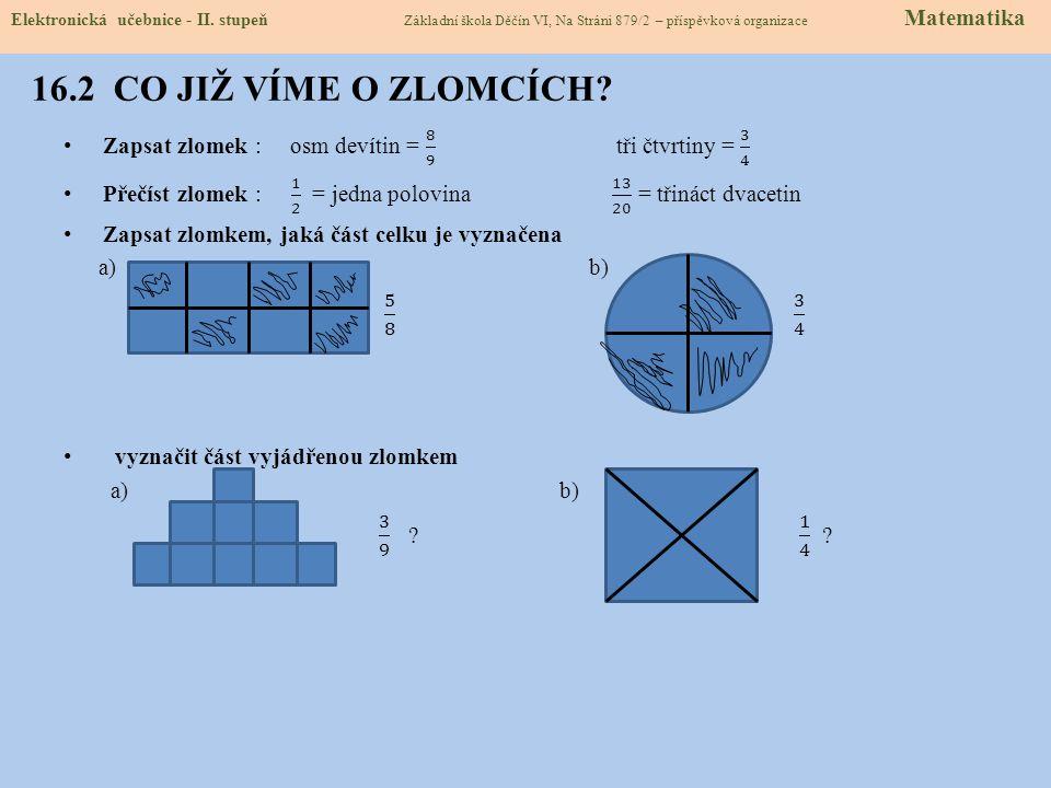 16.2 CO JIŽ VÍME O ZLOMCÍCH. Elektronická učebnice - II.