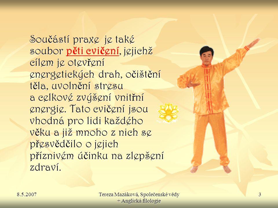 8.5.2007Tereza Mazáková, Společenské vědy + Anglická filologie 4 Zakladatel Falun Gongu Zhuan Falun Zhuan Falun Mistr Li Hongzhi p ř edstavil Falun Gong na ve ř ejnosti poprvé 13.