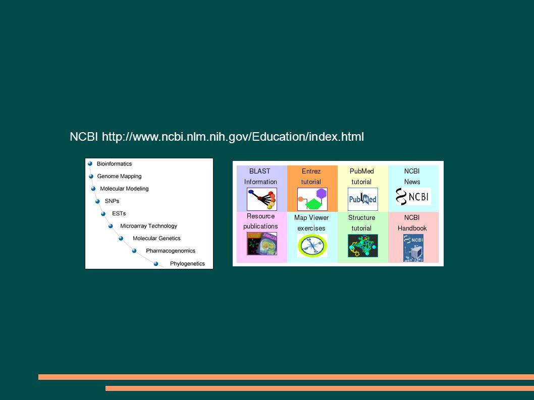NCBI http://www.ncbi.nlm.nih.gov/Education/index.html