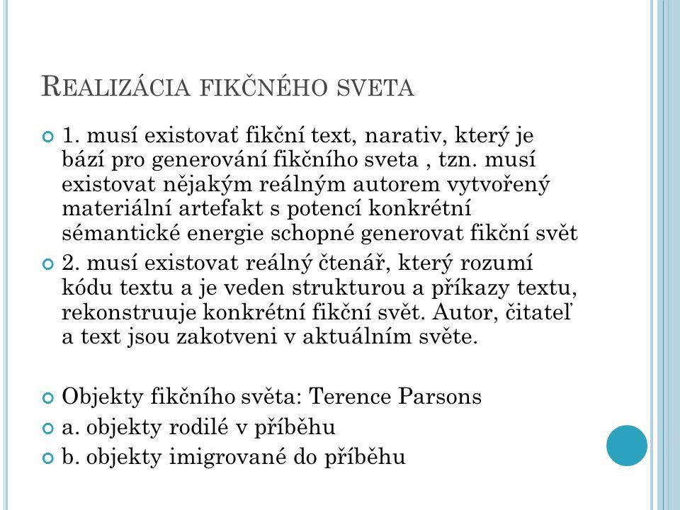 R EALIZÁCIA FIKČNÉHO SVETA 1.