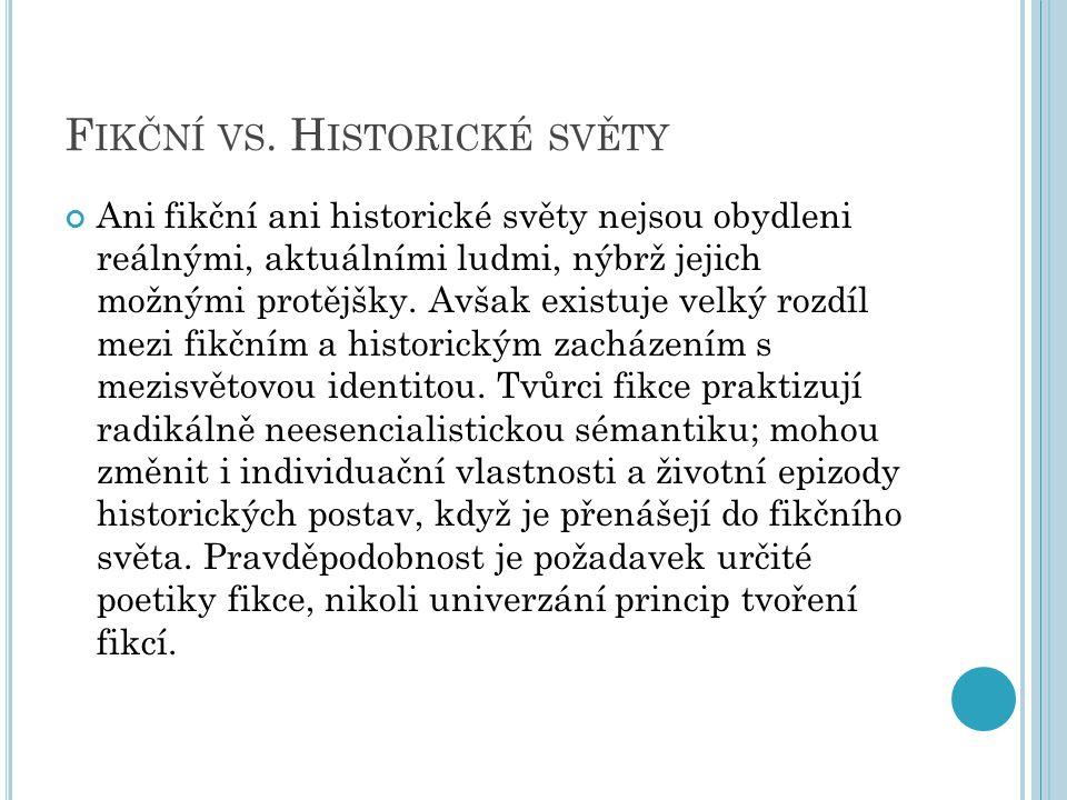 F IKČNÍ VS.