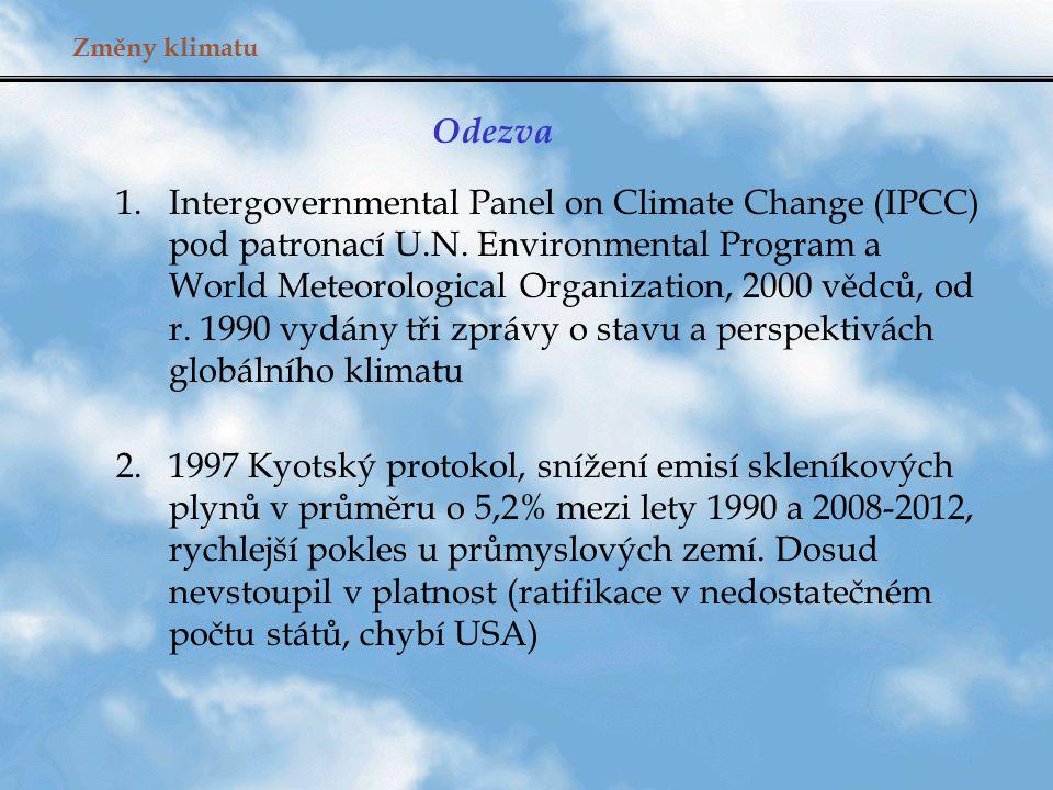 Změny klimatu: závěr emise uhlíku přepočtené na osobu