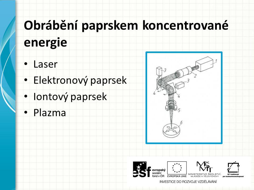 Mechanické procesy Obrábění ultrazvukem Kapalinovým paprskem Proudem brusiva