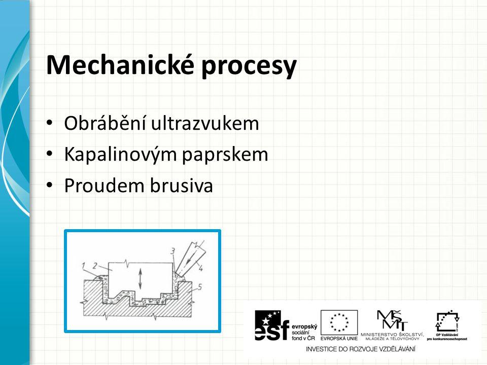 Obrábění elektroerozivní 1 – směr posuvu elektrody 2 – nástroj (katoda) 3 – generátor impulsů 4 – pracovní vana s dielektrikem 5 – tekuté dielektrikum (nebo plynné) 6 – obrobek (anoda) 7 – elektrický výboj a – vzdálenost anody a katody (5 až 100 mikrometrů) Pouze pro vodivé materiály !!!