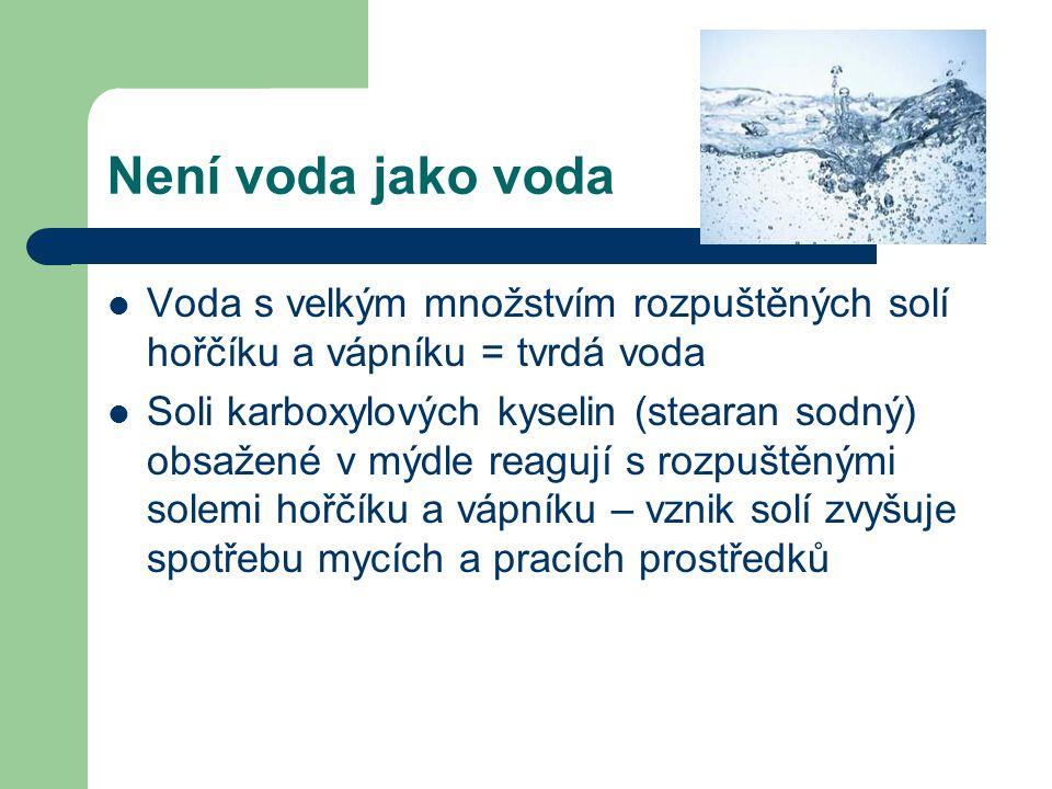 Nebezpečné soli Vápenaté ionty, které se vyskytují v tvrdé vodě nalezneme i v lidském těle – podílí se na stavbě kostí (krystalická forma) nebo se nachází v tělních tekutinách v rozpuštěné formě a podílí se na správné funkci svalů Některé soli mohou vznikat v lidském těle a poškozovat jej zevnitř