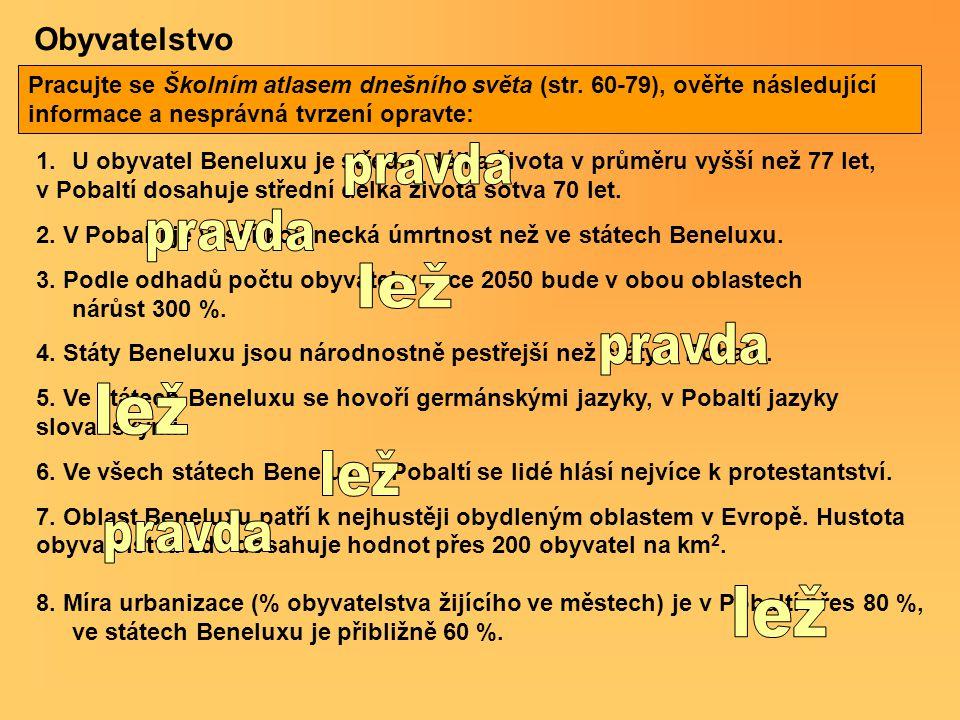 Hospodářství Litva Lotyšsko Estonsko Nizozemí Belgie Lucembursko Dokážete dle údajů o HDP posoudit, zda-li jsou vyspělejší státy Beneluxu či pobaltské státy.