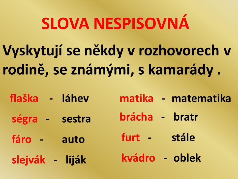 SLOVA CITOVĚ ZABARVENÁ Většina slov je bez citového zabarvení ( dveře, nový, pes, otec, škola, lavice, okno, vítr ).
