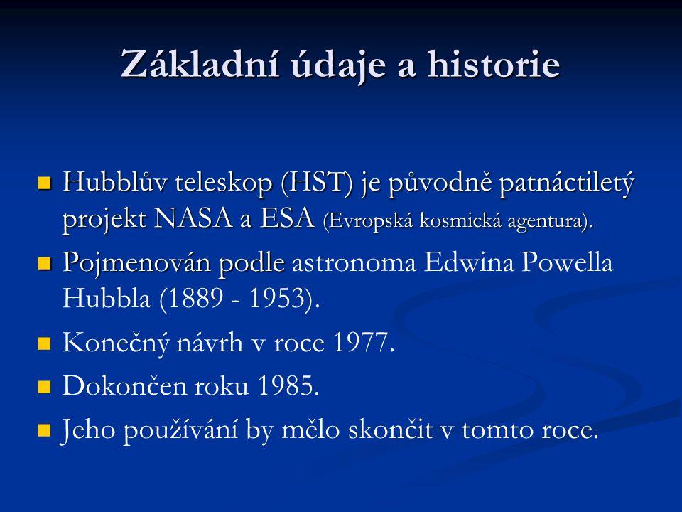 Hubblův teleskop (HST) je původně patnáctiletý projekt NASA a ESA (Evropská kosmická agentura).