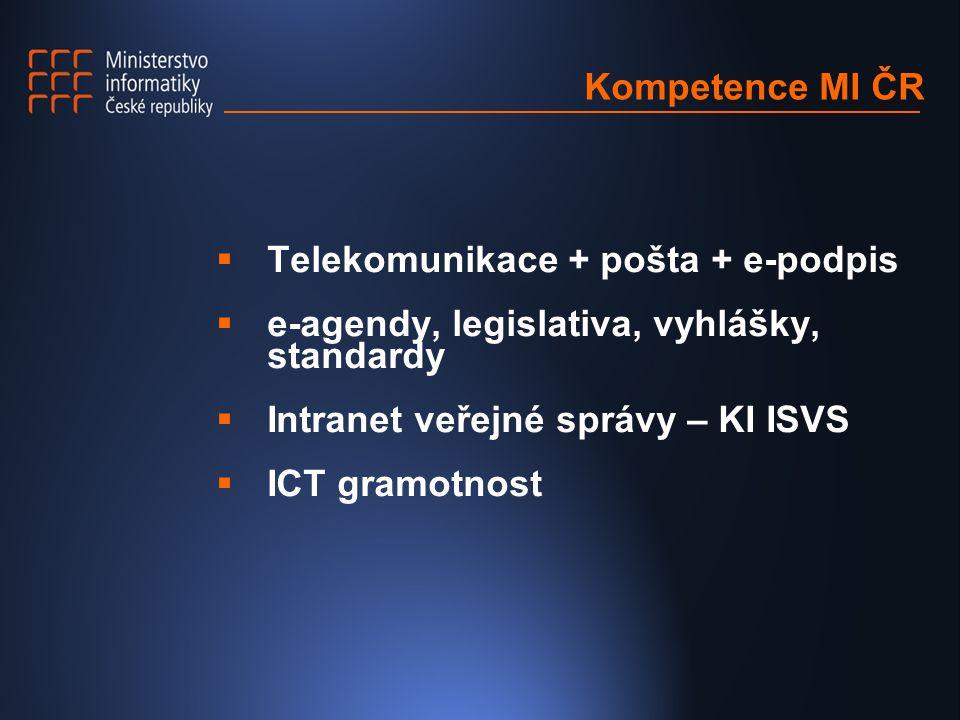 Úspěšně realizované projekty  novela telekomunikačního zákona  e-DPH, daň z nemovitosti, silniční  e-tržiště  zákon o zadávání veřejných zakázek  e-rejstřík trestů  NPPG  Bílá kniha o elektronickém obchodu
