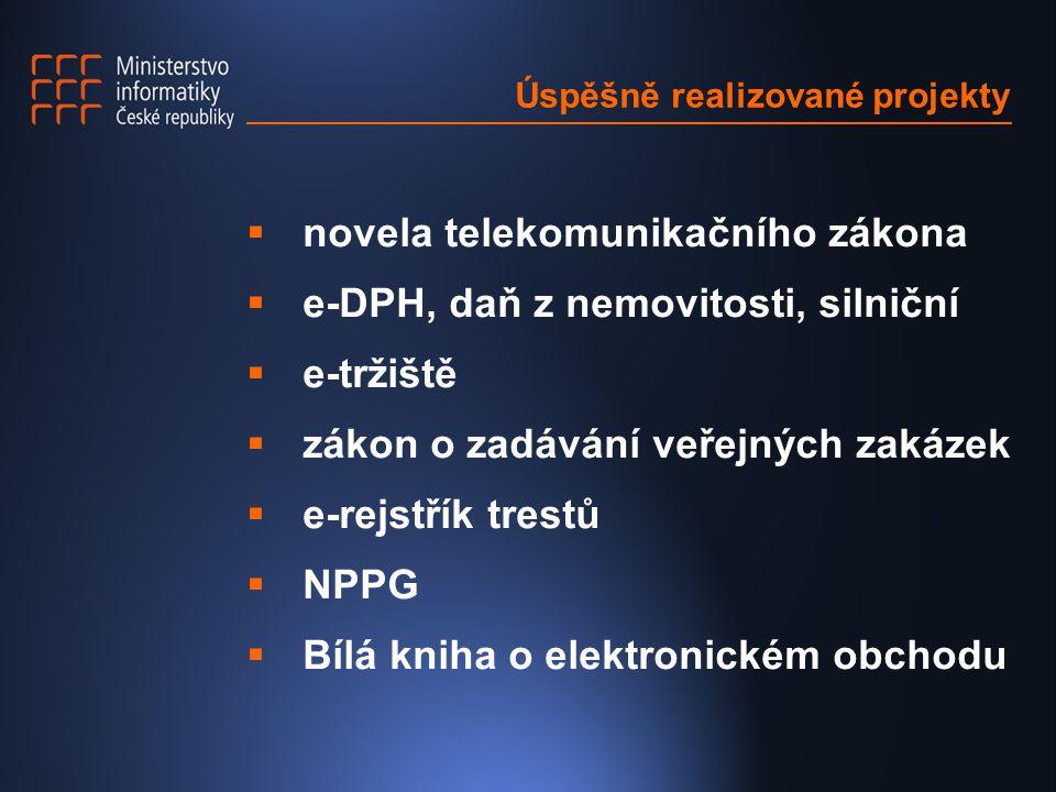 Prioritní projekty pro VS / 2003  Portál veřejné správy  Intranet veřejné správy – KI ISVS  e- vláda – elektronický oběh dokumentů
