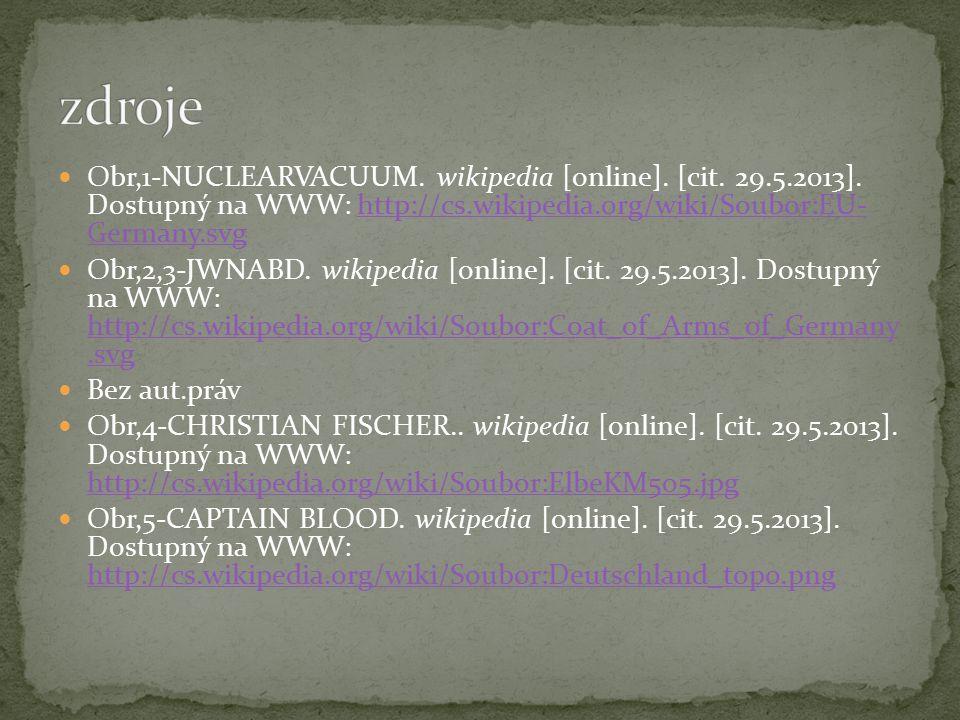 Obr,1-NUCLEARVACUUM. wikipedia [online]. [cit. 29.5.2013]. Dostupný na WWW: http://cs.wikipedia.org/wiki/Soubor:EU- Germany.svghttp://cs.wikipedia.org