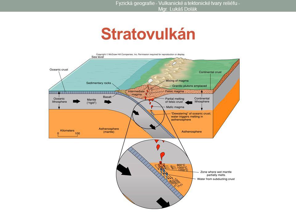 Stratovulkán Fyzická geografie - Vulkanické a tektonické tvary reliéfu - Mgr. Lukáš Dolák