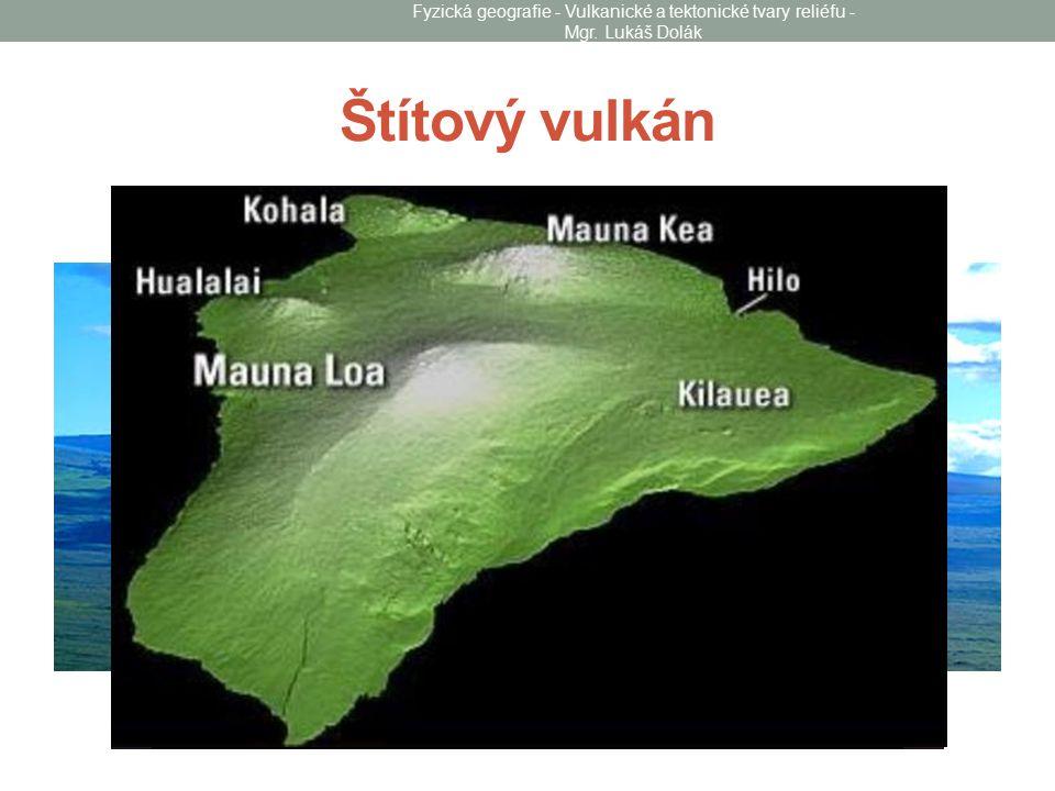 Štítový vulkán Fyzická geografie - Vulkanické a tektonické tvary reliéfu - Mgr. Lukáš Dolák
