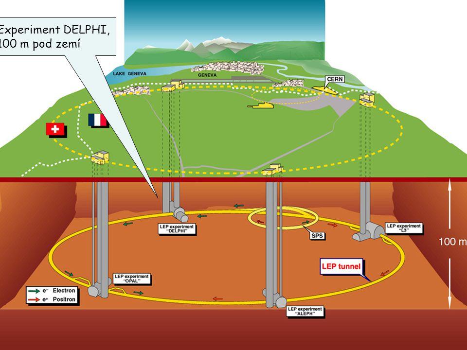 15 Experiment DELPHI, 100 m pod zemí