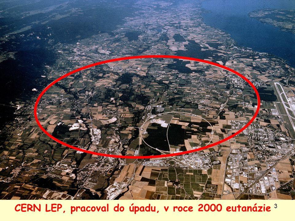 3 CERN LEP, pracoval do úpadu, v roce 2000 eutanázie