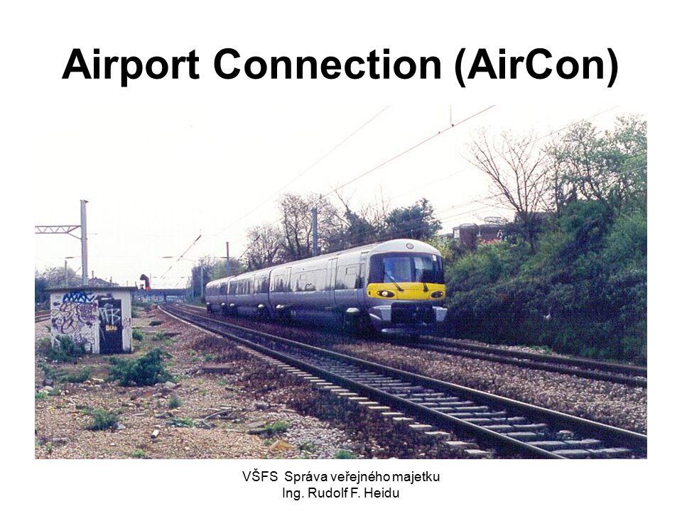 VŠFS Správa veřejného majetku Ing. Rudolf F. Heidu Airport Connection (AirCon)