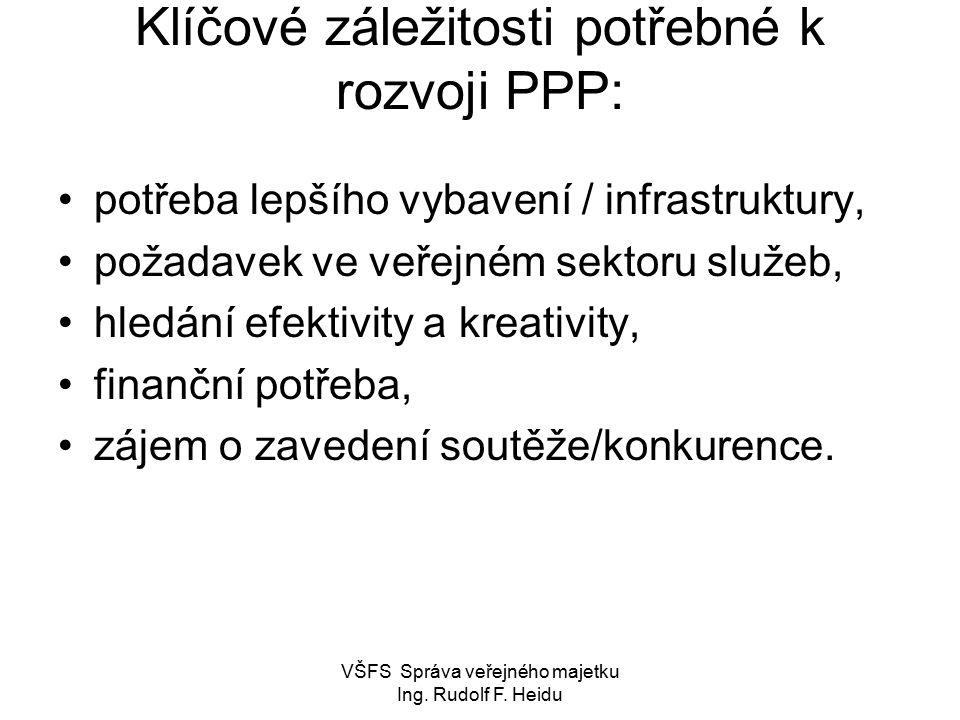 VŠFS Správa veřejného majetku Ing.Rudolf F.
