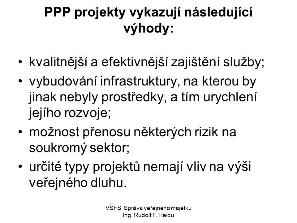 VŠFS Správa veřejného majetku Ing. Rudolf F. Heidu PPP