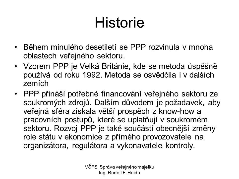 VŠFS Správa veřejného majetku Ing. Rudolf F. Heidu PPP klíčové fáze