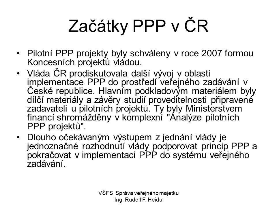 VŠFS Správa veřejného majetku Ing. Rudolf F. Heidu Postup