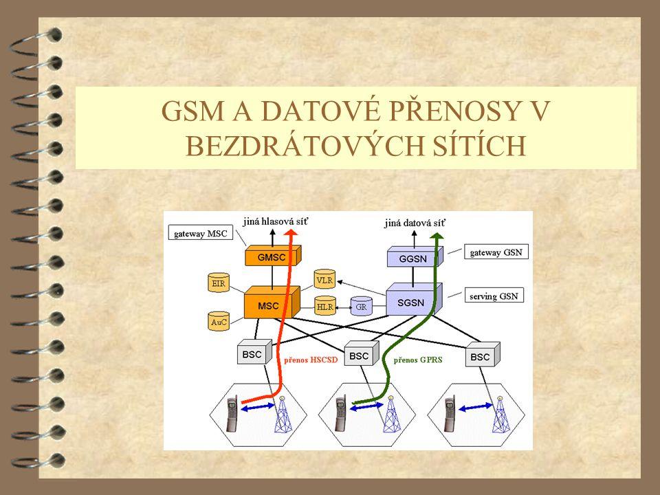 GSM A DATOVÉ PŘENOSY V BEZDRÁTOVÝCH SÍTÍCH