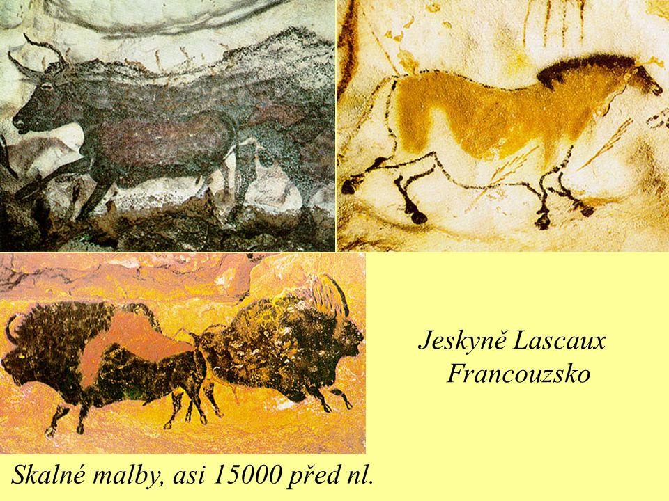 Skalné malby, asi 15000 před nl. Jeskyně Lascaux Francouzsko