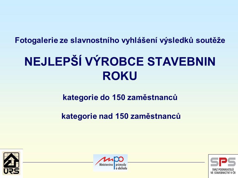 Užší nominace do soutěže v kategorii firem s počtem zaměstnanců do 150 pracovníků BOHEMIA ASFALT, s.r.o.