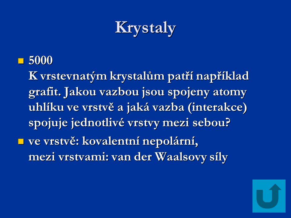 Vazebné hrátky 2000 Seřaďte za sebe značku vanadu, první a poslední písmeno abecedy a značku barya.