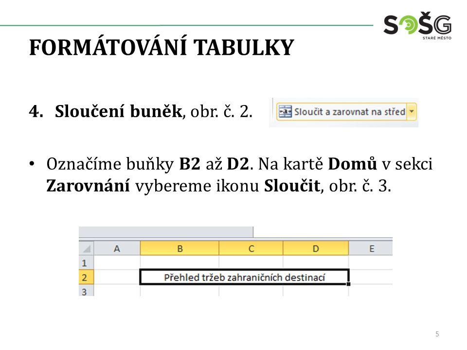 FORMÁTOVÁNÍ TABULKY 5.Úprava fontu, obr.č. 4.