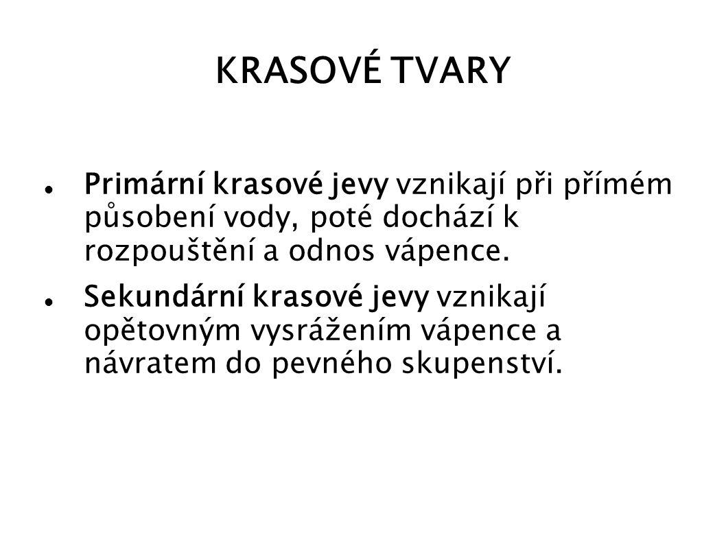 PRIMÁRNÍ KRASOVÉ TVARY I.