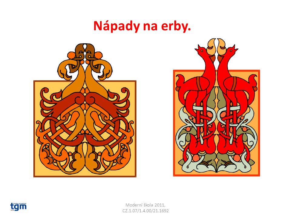 Moderní škola 2011, CZ.1.07/1.4.00/21.1692 Nápady na erby.