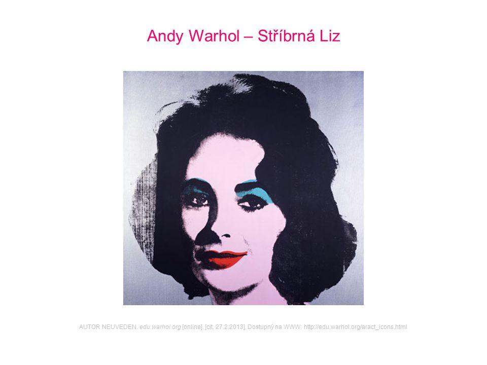 Andy Warhol – Stříbrná Liz AUTOR NEUVEDEN. edu.warhol.org [online]. [cit. 27.2.2013]. Dostupný na WWW: http://edu.warhol.org/aract_icons.html