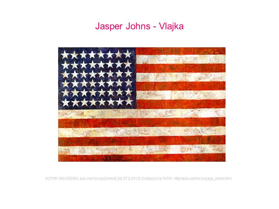 Jasper Johns - Vlajka AUTOR NEUVEDEN. edu.warhol.org [online]. [cit. 27.2.2013]. Dostupný na WWW: http://edu.warhol.org/app_johns.html
