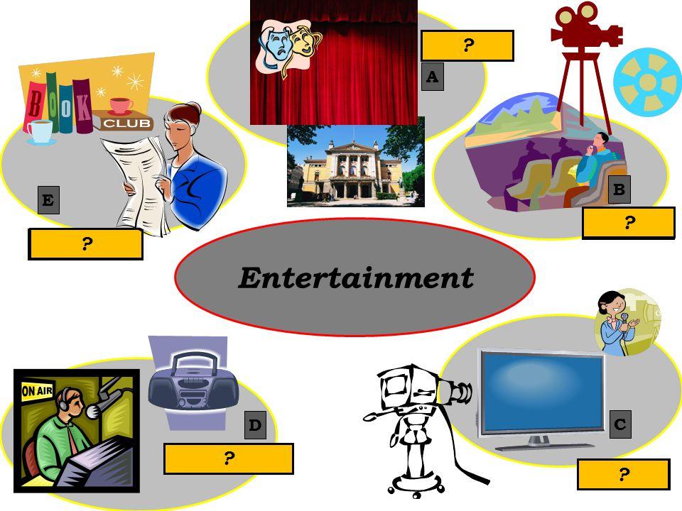 Entertainment theatre cinema TV radio literature A B C D E