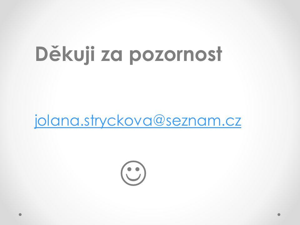 Děkuji za pozornost jolana.stryckova@seznam.cz