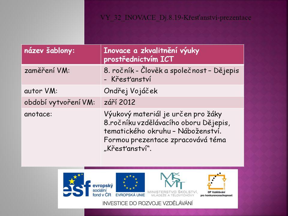 název šablony:Inovace a zkvalitnění výuky prostřednictvím ICT zaměření VM:8.