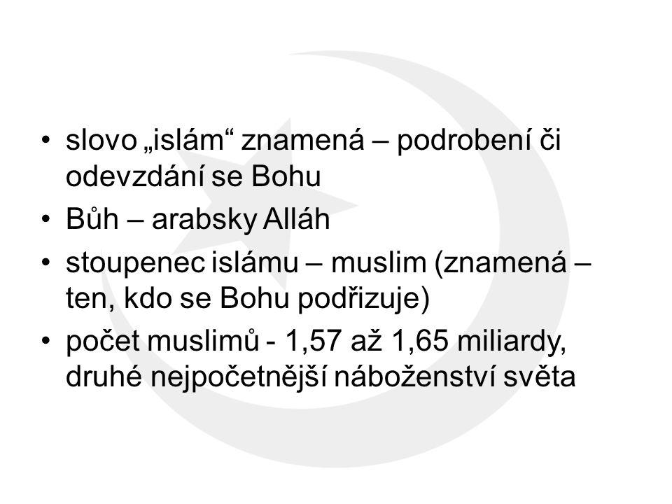 základní text (svatá kniha) – Korán, Sunna (Muhammadovy činy a slova) obr 2 Korán