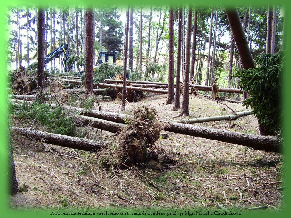  Důsledky odlesnění – eroze (odnos půdy), poruchy vodního režimu krajiny – vysychání krajiny, povodně Autorem materiálu a všech jeho částí, není-li uvedeno jinak, je Mgr.