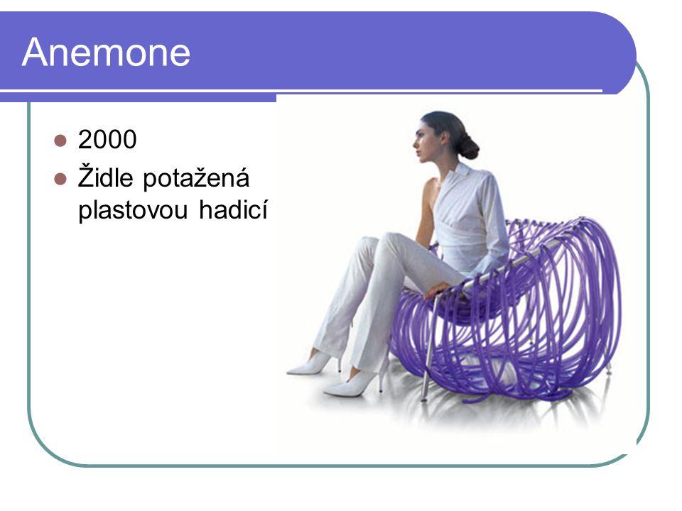 Anemone 2000 Židle potažená plastovou hadicí