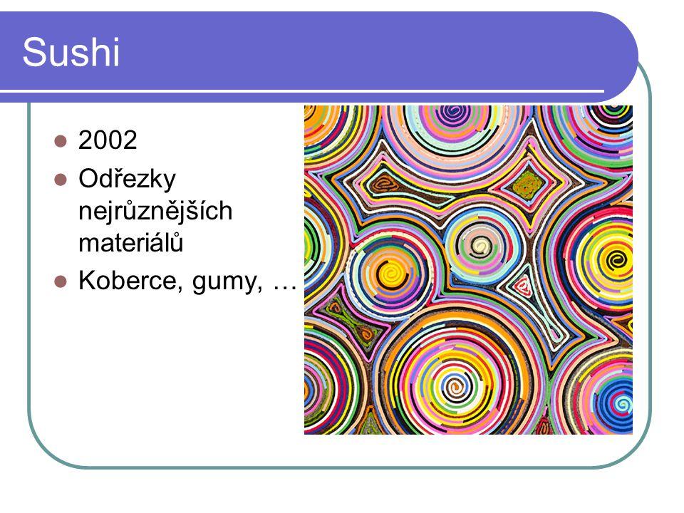 Sushi 2002 Odřezky nejrůznějších materiálů Koberce, gumy, …