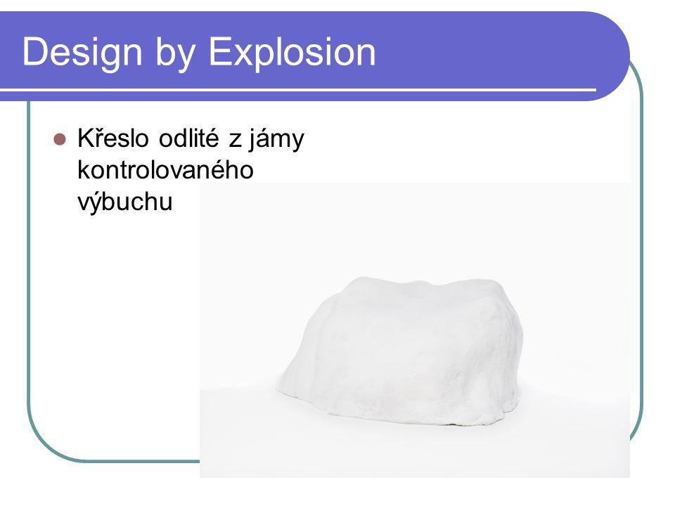 Design by Explosion Křeslo odlité z jámy kontrolovaného výbuchu