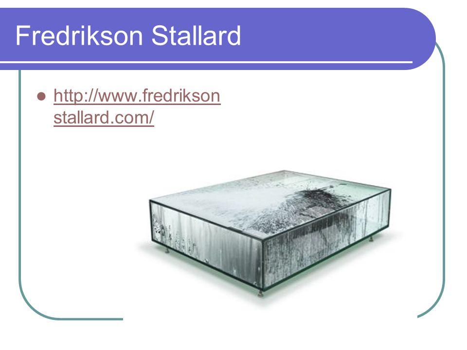 Fredrikson Stallard http://www.fredrikson stallard.com/ http://www.fredrikson stallard.com/