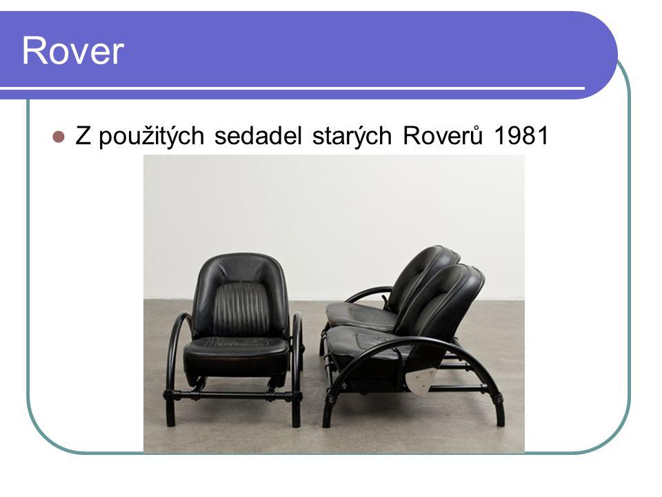 Rover Z použitých sedadel starých Roverů 1981