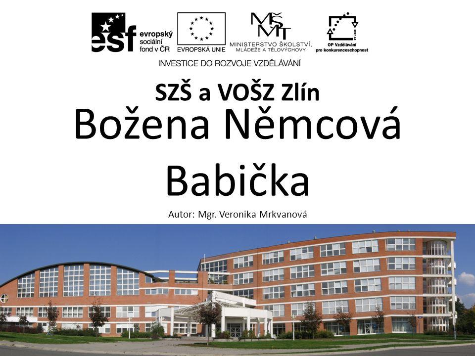 Název sadyBožena Němcová.