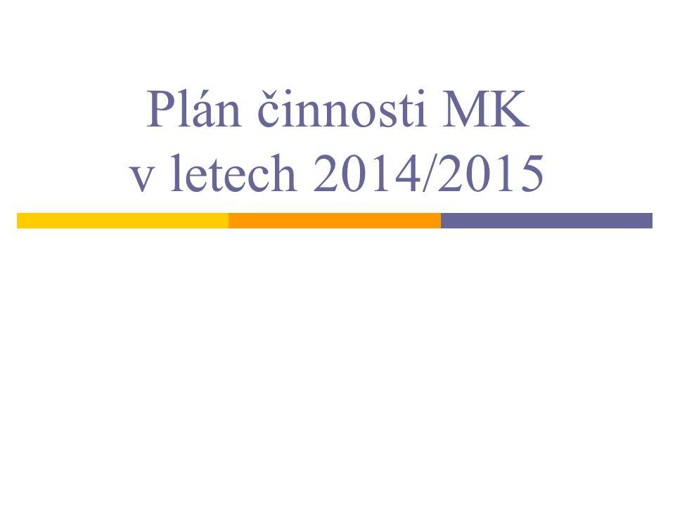 Plán činnosti MK v letech 2014/2015