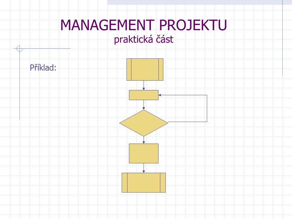 MANAGEMENT PROJEKTU praktická část Příklad: